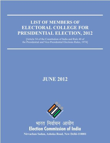 JUNE 2012 - Election Commission of India