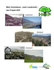 Mehr Hochstamm , mehr Landschaft – das Projekt HOP - Region Thal