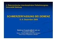 SCHMERZERFASSUNG BEI DEMENZ - palliativ-medizin.at