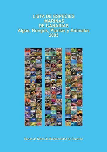 Lista de especies marinas de Canarias 2003. - Interreg Bionatura