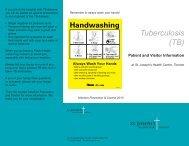 Brochure: Tuberculosis (TB) - St. Joseph's Health Centre Toronto