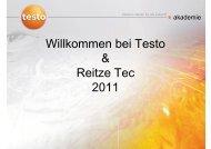 Willkommen bei Testo & Reitze Tec 2011