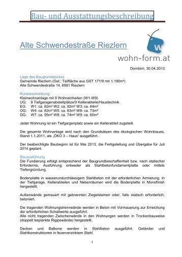 Bau- und Ausstattungsbeschreibung - Laendleimmo.at