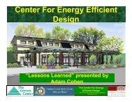 Center For Energy Efficient Design - Passive House Institute US