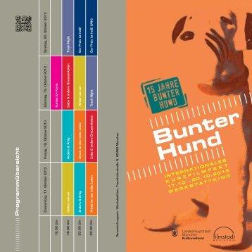 Programmheft 2013 - Kurzfilmfest