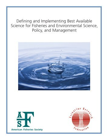 BAS front cover.pmd - American Fisheries Society