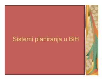 Sistemi planiranja u BiH