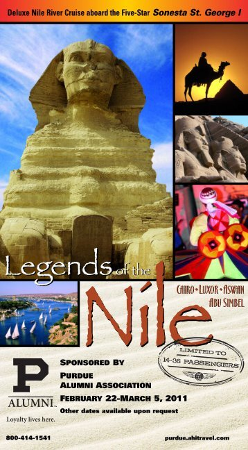 LegendsNileCAIRO•LUXOR•ASWAN Legendsof ... - AHI International