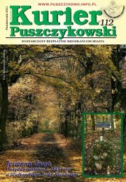 Kurier 112-fonty-2.indd - Stowarzyszenie Przyjaciół Puszczykowa