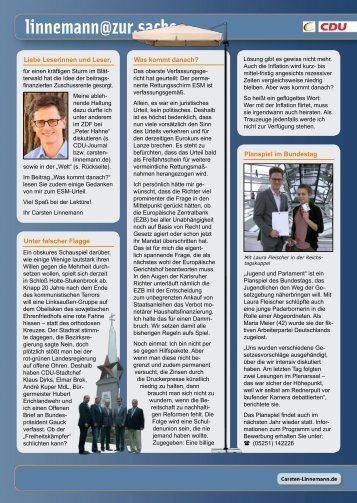 Infobrief - Ausgabe 04/12 - Carsten Linnemann