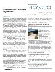 How to Improve the Security of your Farm - Pork Information Gateway