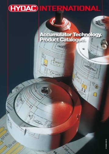Accumulator Technology. Product Catalogue. - Sea