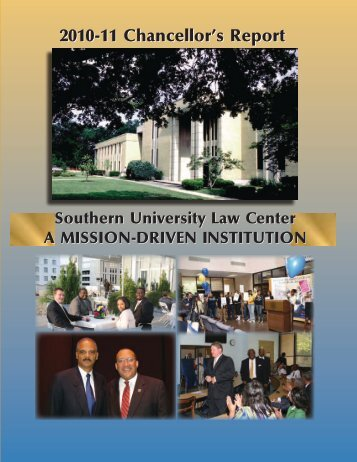 2010-11 Chancellor's Report - Southern University Law Center