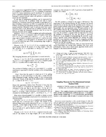 Sampling theorems for two-dimensional isotropic ... - IEEE Xplore