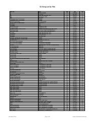 DJ Song List by Artist - Southeastern Entertainment!