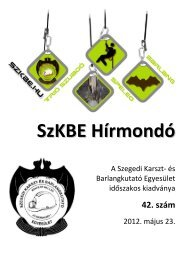 SzKBE Hírmondó - Szegedi Karszt