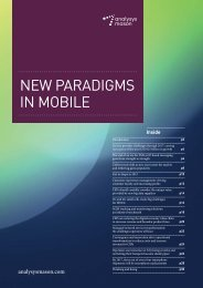 New Paradigms in Mobile - Analysys Mason