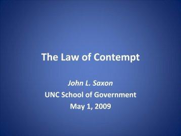 The Law of Contempt--Slides