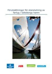 Förutsättningar för elanslutning av fartyg i Göteborgs Hamn