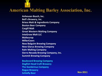 American Malting Barley Association, Inc. - Brewing And Malting ...