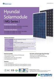 Hyundai Solarmodule - Reimann Solar GmbH