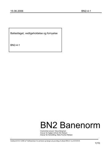 """Banenorm BN2-4 """"Ballastlaget, vedligeholdelse og ... - Banedanmark"""