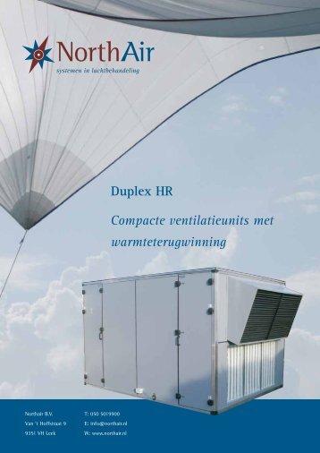Algemene brochure Duplex WTW HR - Holland Ventilatie Groep