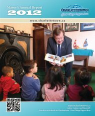 Mayor's Annual Report - 2012 - City of Charlottetown