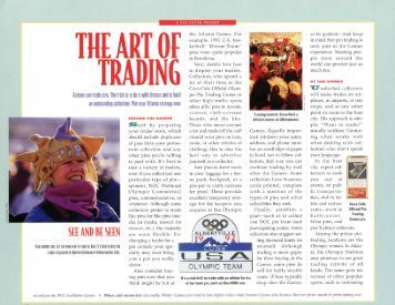 The Art of Trading - the Olympin Collectors Club