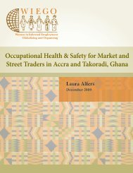 Occupational Health & Safety for Market and Street Traders ... - WIEGO