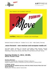 .move forward - new mexican and european media art Opening ...