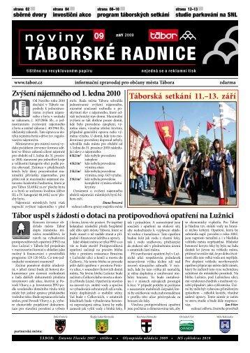 Noviny Táborské Radnice 2009 - Září