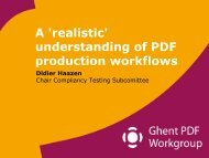 'realistic' understanding of PDF production workflows