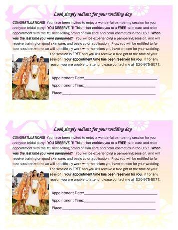 Bridal Makeover Ticket - Betsy Richard