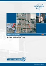 Arriva Möbelaufzug - Albert Böcker GmbH & Co. KG