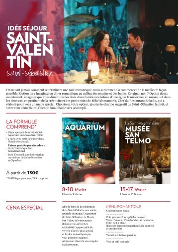 Idée séjour Saint-Valentin Saint-Sébastien