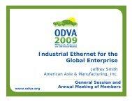 Industrial Ethernet for the Global Enterprise - ODVA