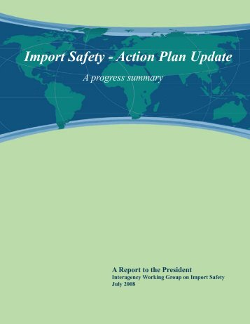 Import Safety - Action Plan Update - HHS Archive