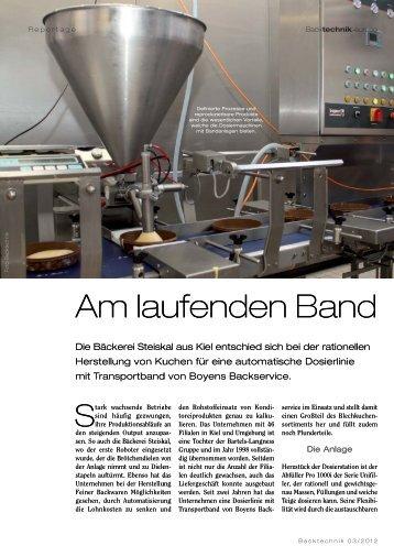 Am laufenden Band - boyens backservice GmbH