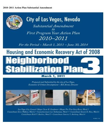 2010 2011 Action Plan Substantial Amendment - City of Las Vegas