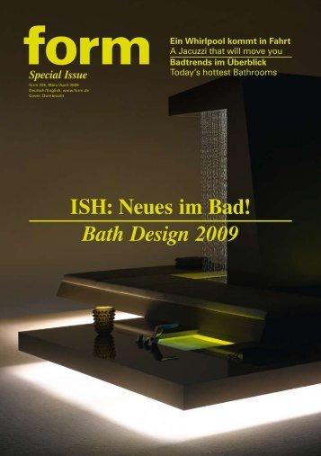 ISH: Neues im Bad! Bath Design 2009 - scarchitekten