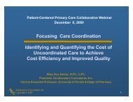 Focusing Care Coordination Identifying and Quantifying the Cost of ...