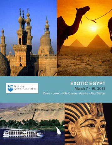 EXOTIC EGYPT - Penn State Alumni Association
