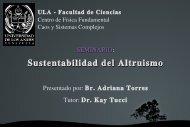 Sustentabilidad del Altruismo