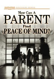 How Can a Parent Find Peace of Mind - RBC Ministries