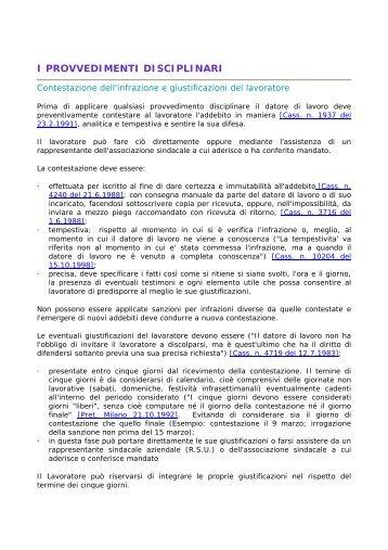 I PROVVEDIMENTI DISCIPLINARI - Assistal