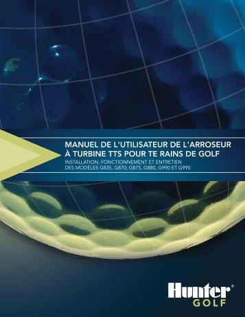 manuel de l'utilisateur de l'arroseur à turbine tts ... - Hunter Industries