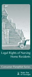 Legal Rights of Nursing Home Residents - State Bar of Georgia