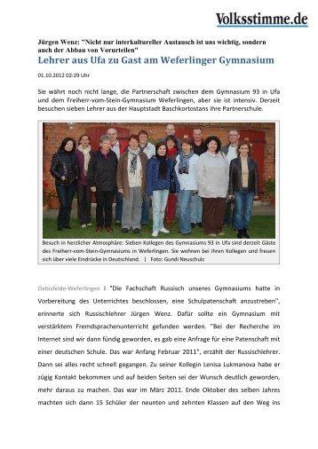 Lehrer aus Ufa zu Gast am Weferlinger Gymnasium - icatat