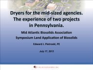 Dryers for the mid-‐sized agencies. The experience of two projects ...